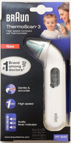 Braun Thermoscan 3 IRT 3030 Fieberthermometer